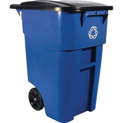 Rubbermaid 50 Gal. Recycling Trash Can with Lid