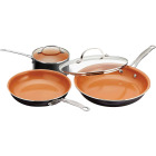 Gotham Steel Gray Non-Stick Aluminum Round Cookware Set (5-Piece) Image 1
