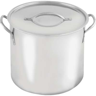 McSunley 20 Qt. Polished Stainless Steel Stockpot
