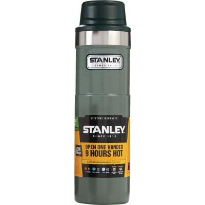 Stanley 20 Oz. Hammertone Green Trigger Action Insulated Tumbler