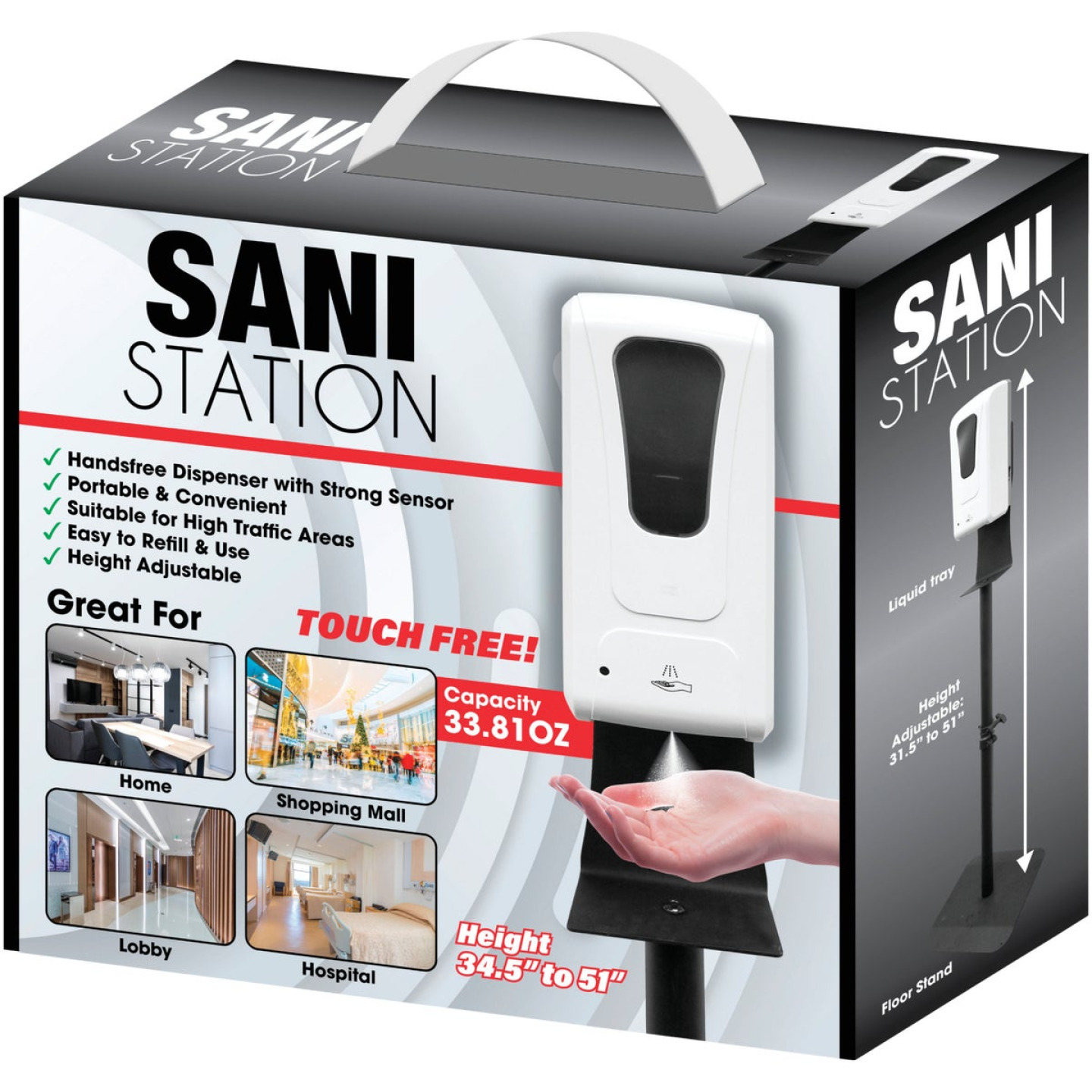 Sani Maxx Automatic Sanitizer Dispenser with Stand Image 2