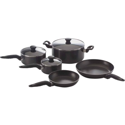 Mirro Black Non-Stick Aluminum Cookware Set (10-Piece)