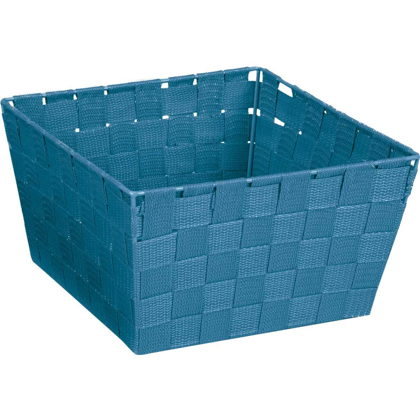 Home Impressions 9.75 In. x 5.5 In. H. Woven Storage Basket, Blue Image 1