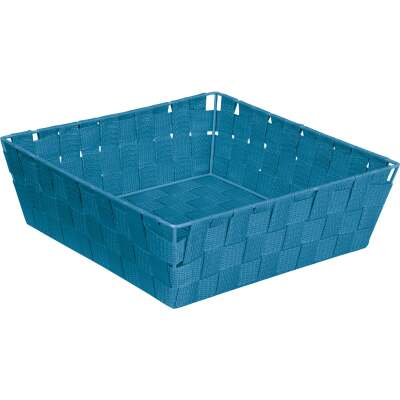 Home Impressions 11.75 In. x 3.75 In. H. Woven Storage Basket, Blue