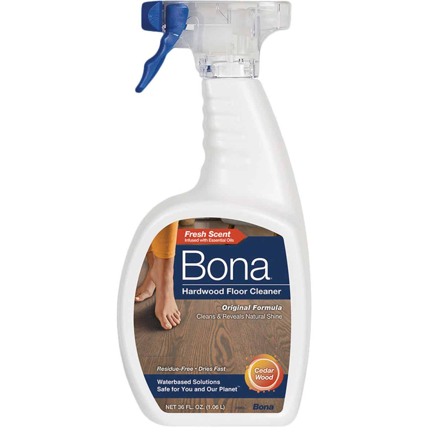 Bona 36 Oz. Cedarwood Scented Hardwood Floor Cleaner Image 1