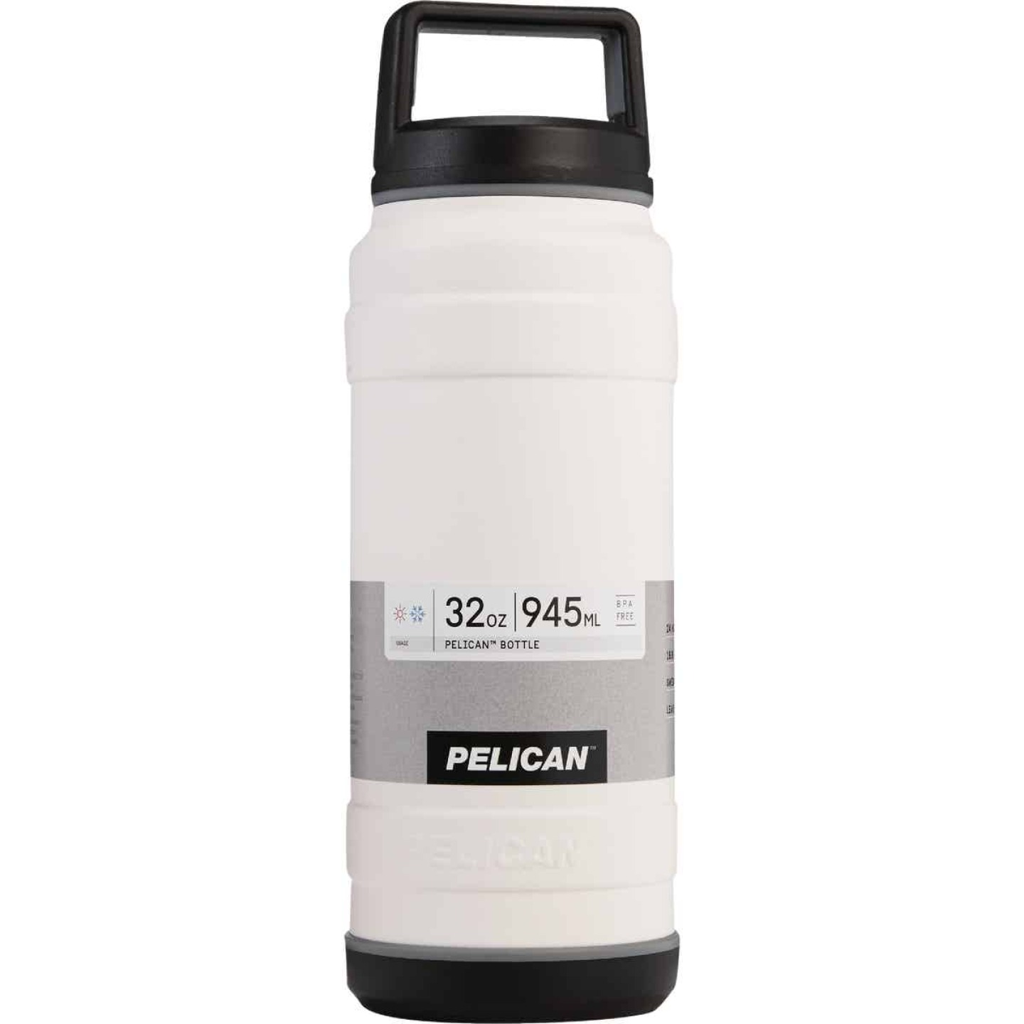 Pelican 32 Oz. White Stainless Steel Travel Bottle Image 1