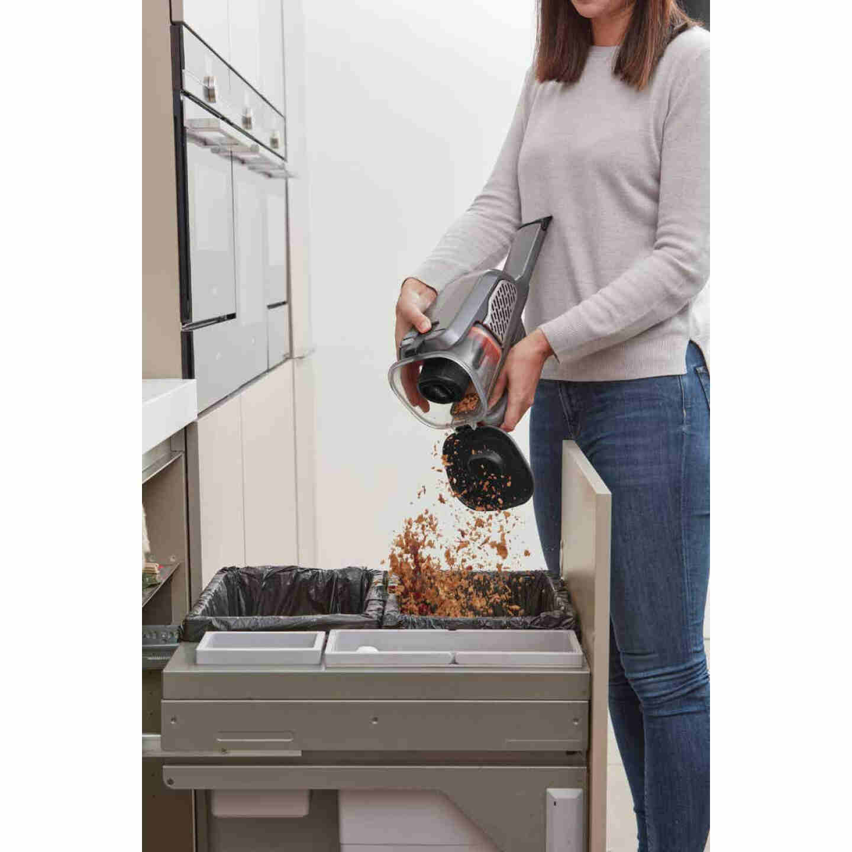Black & Decker Dustbuster AdvancedClean 16V 1.5AH Titanium Cordless Handheld Vacuum Cleaner Image 3