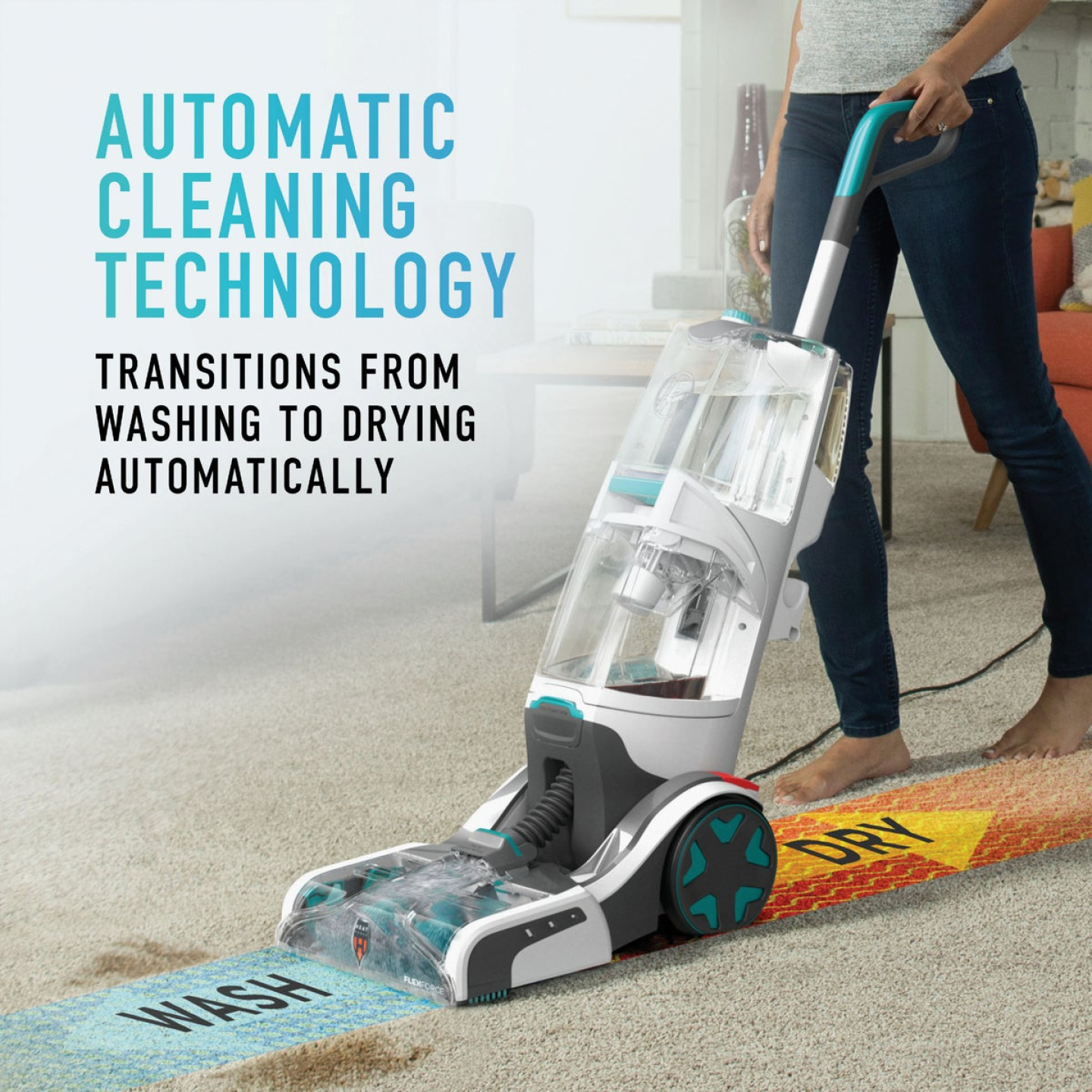 Hoover SmartWash+ Automatic Carpet Cleaner Image 2