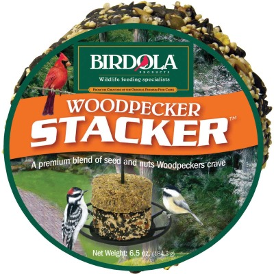 Birdola Woodpecker Stacker 6.5 Oz. Wild Bird Seed Cake