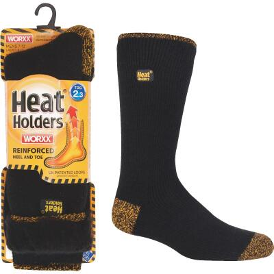 Heat Holders Worxx Large Black Thermal Socks