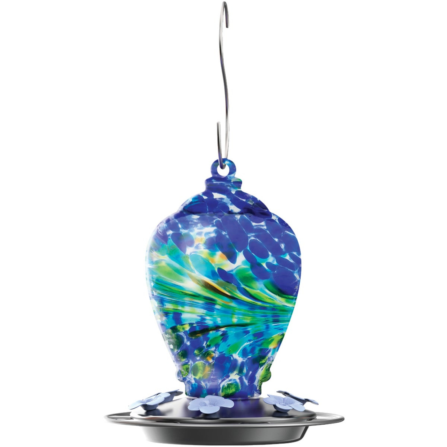 Nature's Way Artisan Gravity Glass Hummingbird Feeder Image 1