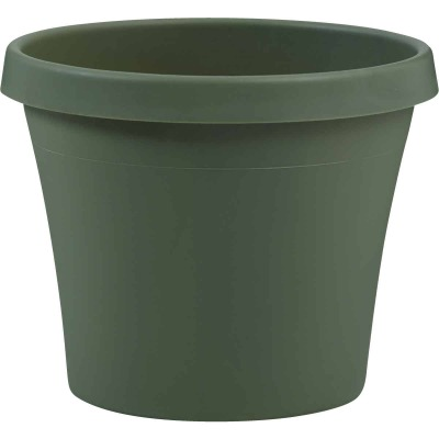 Bloem Terra Living Green 12.75 In. H. x 14 In. Dia. Polypropylene Planter