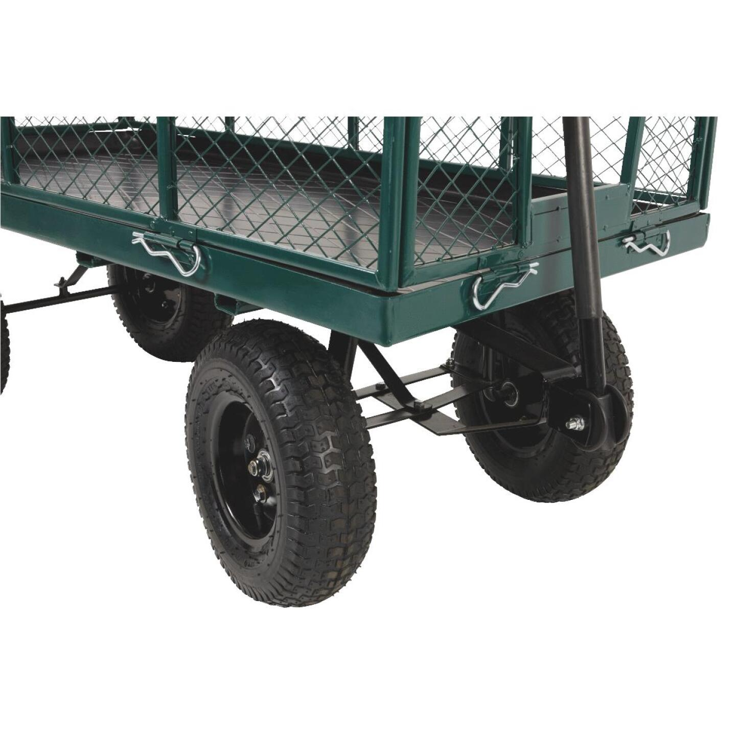 Best Garden 1000 Lb. Steel Garden Cart with Collapsible Sides Image 6