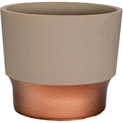HC Companies Sprite 3 In. x 3 In. x 2.5 In. Resin Artisan Taupe Succulent Pot