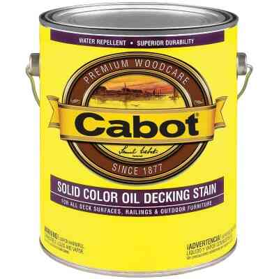 Cabot VOC Solid Color Oil Deck Stain, White Base, 1 Gal.