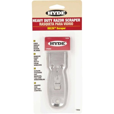 Hyde Delta Heavy Duty Retractable Razor Scraper with 5 Blades