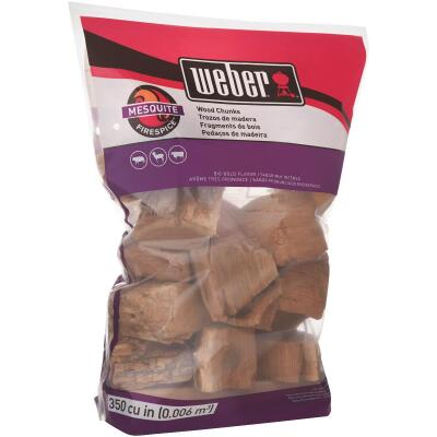 Weber FireSpice 350 Cu. In. Mesquite Smoking Chunks