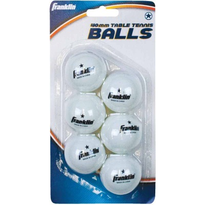 Franklin White Table Tennis Ball (6-Pack)