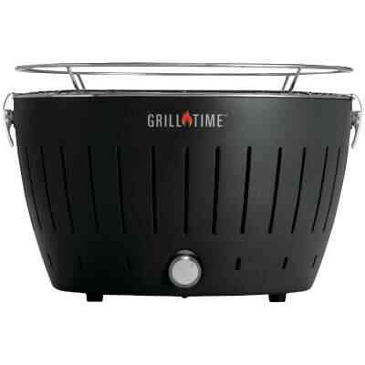 Grill Time Tailgater GT Gray 124 Sq. In. Charcoal Portable Grill
