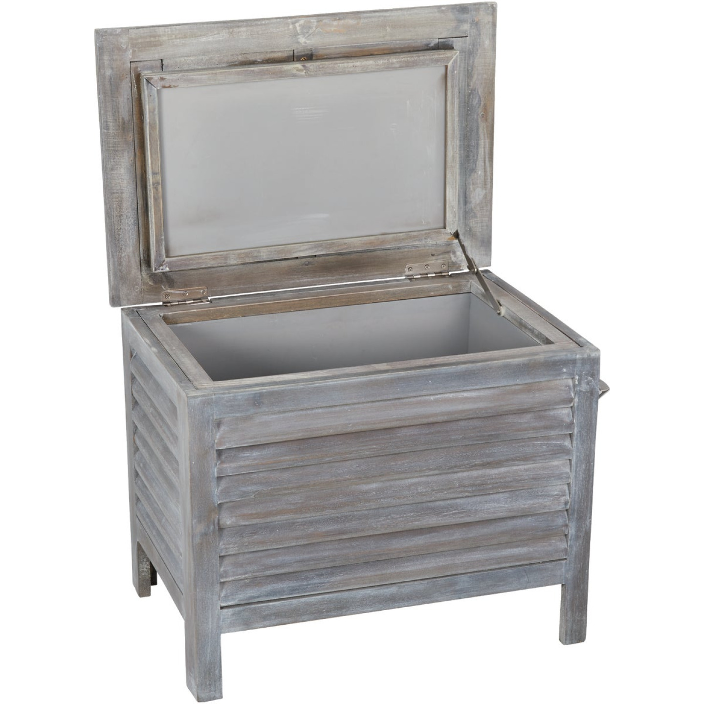 Leigh Country 56 Qt. Acacia Wood Cooler, Gray Image 6