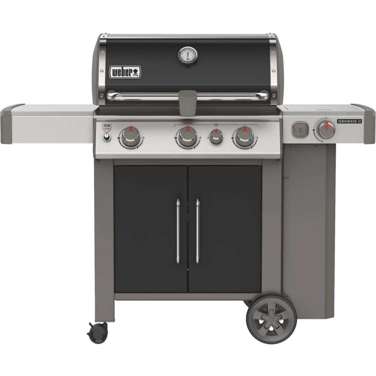 Weber Genesis II SE-335 3-Burner Black 39,000 BTU LP Gas Grill with 12,000 BTU Side -Burner Image 1