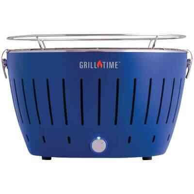 Grill Time Tailgater GT Blue 124 Sq. In. Charcoal Portable Grill