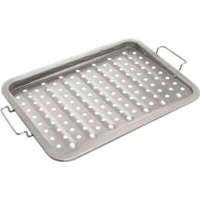 GrillPro 11 In. W. x 16 In. L. Stainless Steel Grill Topper Tray