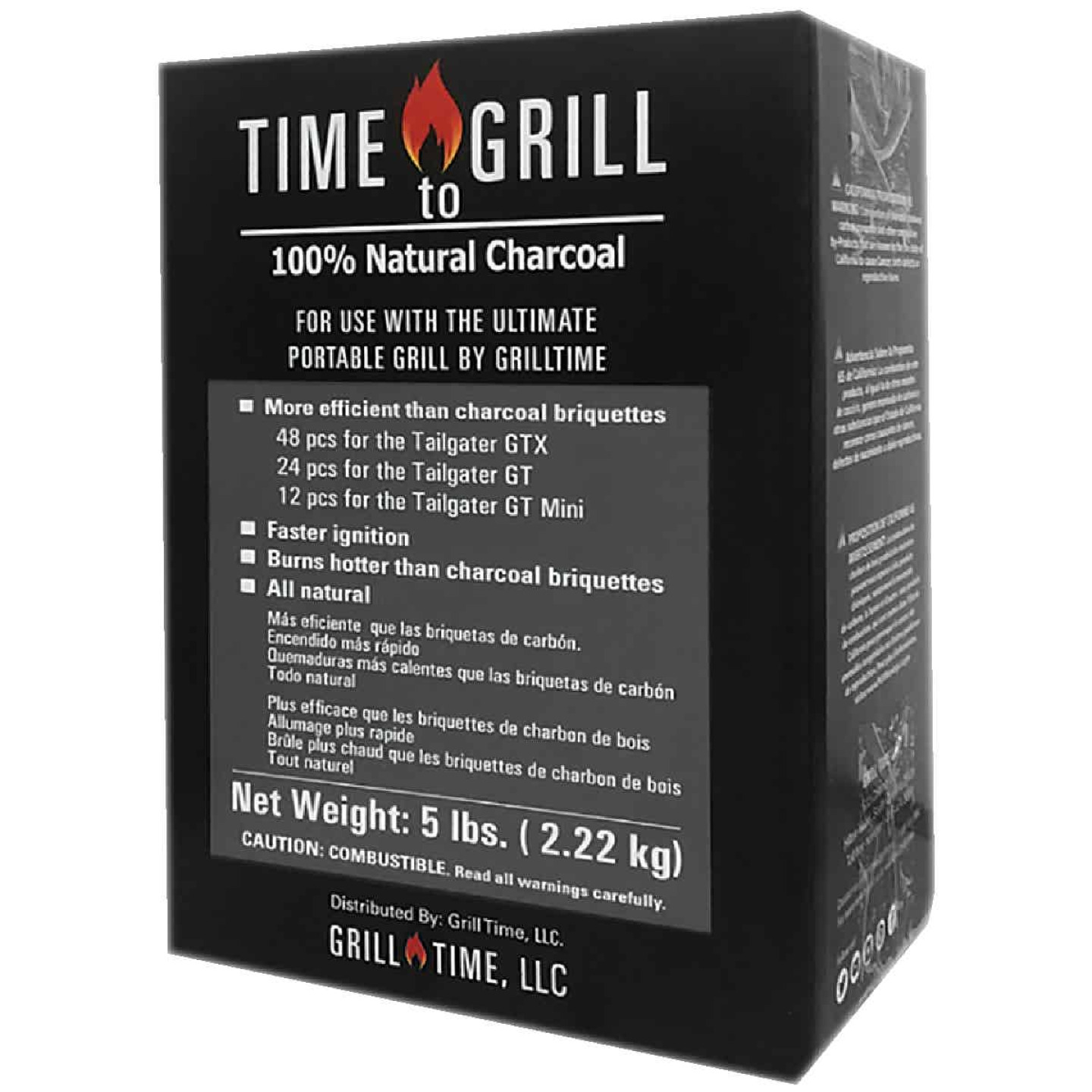 Grill Time 5 Lb. Natural Wood Charcoal Image 1