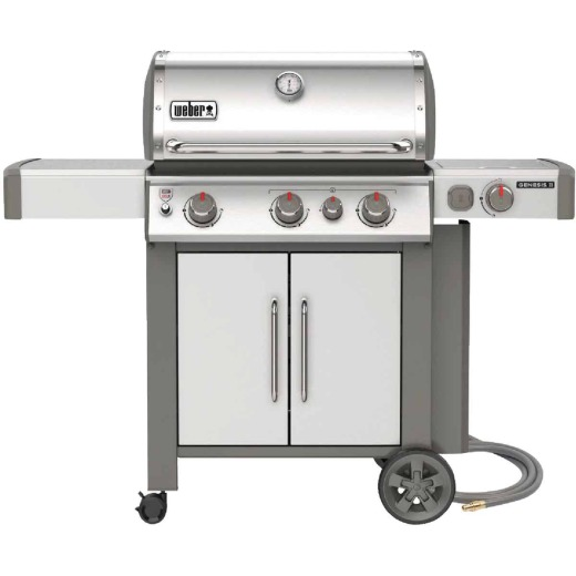 Weber Genesis II S-335 3-Burner Stainless Steel 39,000 BTU Natural Gas Grill with 12,000 BTU Side -Burner