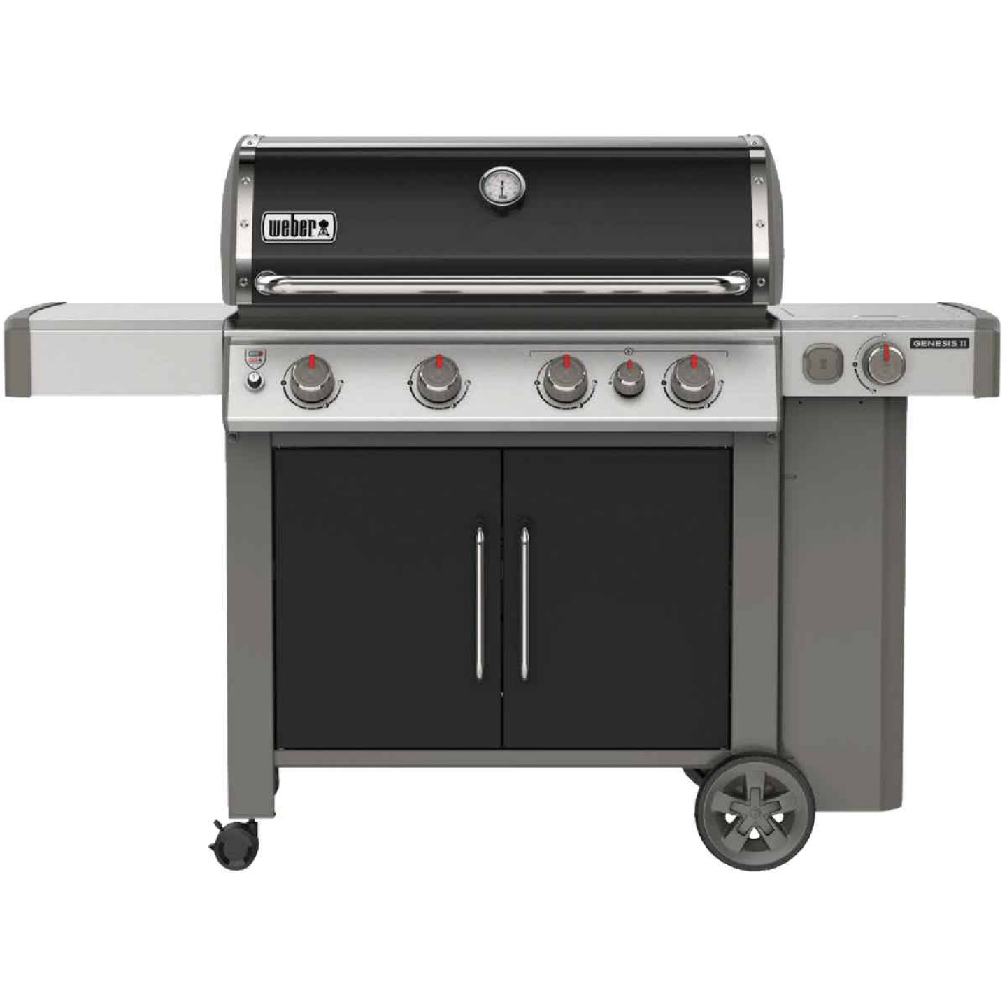 Weber Genesis II E-435 4-Burner Black 48,000 BTU LP Gas Grill with 12,000 BTU Side -Burner Image 1
