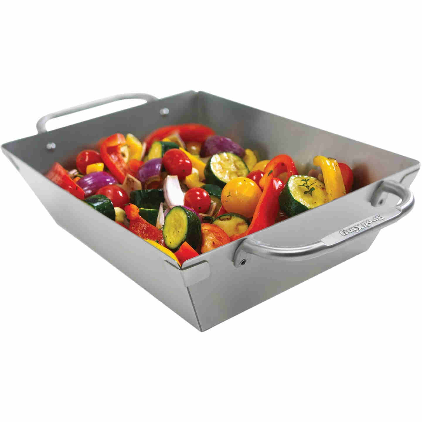 Broil King Imperial 13 In. W. x 9.75 In. L. Stainless Steel Grill Wok Topper Tray Image 1