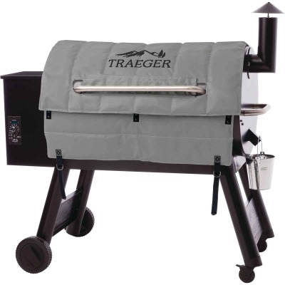 Traeger Pro 34 44 In. Gray Foil-Backed Heat-Resistant Fabric Insulated Blanket Grill Cover
