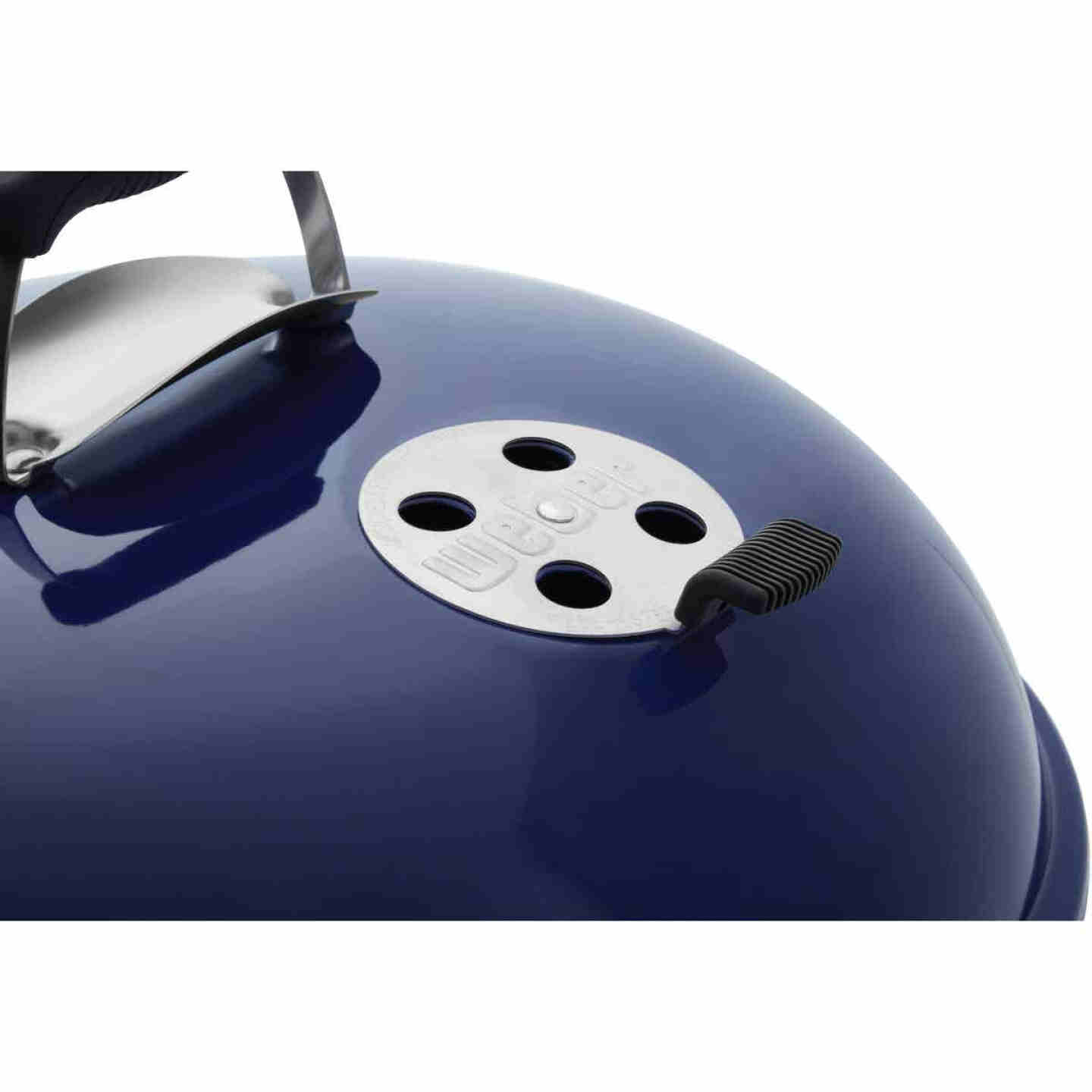 Weber Master-Touch 22 In. Dia. Deep Ocean Blue Charcoal Grill Image 10
