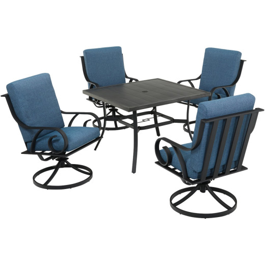 Pacific Casual Capri 5-Piece Fully Cushioned Swivel Dining Set