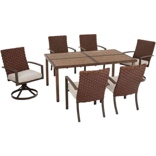Pacific Casual Addison 7-Piece Dining Set