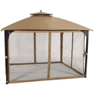 Outdoor Expressions 10 Ft. x 12 Ft. Art Steel Gazebo