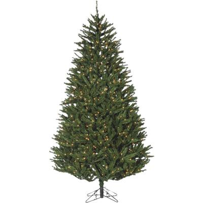 Sterling 7.5 Ft. New England Pine 800-Bulb Clear Incandescent Prelit Artificial Christmas Tree