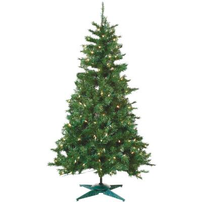 Sterling 3 Ft. Colorado Spruce 100-Bulb Clear Incandescent Prelit Artificial Christmas Tree