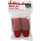 Red Jr. 2 Oz. Red Plastic Cups (24-Pack) Image 1